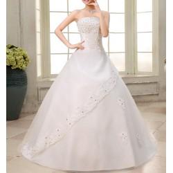 luxusní svatební šaty krémové Donna L-XL