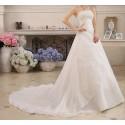 krémové svatební šaty pro baculky Sandra XXL-3XL