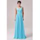 světle modré plesové společenské šaty jednoduché XL-XXL