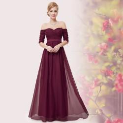 dlouhé vínové společenské šaty Jessica M
