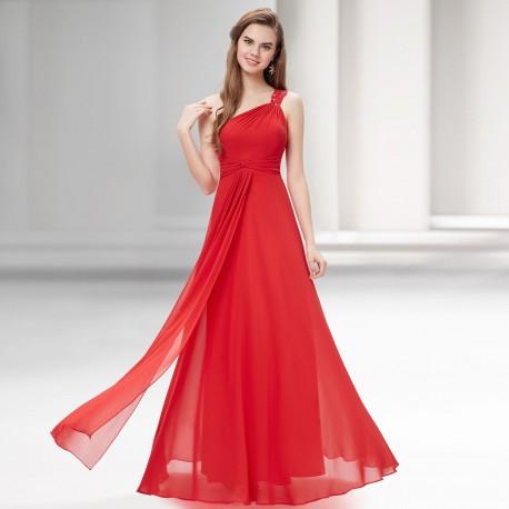 dlouhé červené společenské šaty Elza L