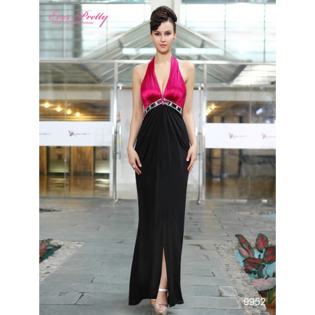 dlouhé černé společenské šaty za krk Lucia XS
