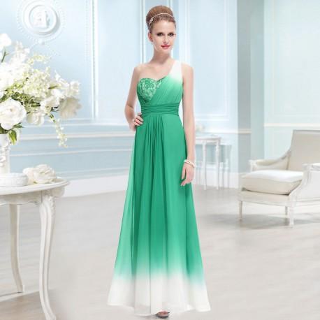 zelené ombré společenské dlouhé šaty Juliana L