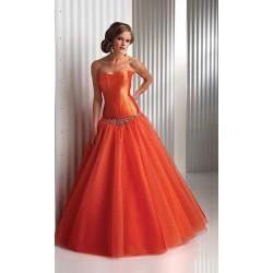 oranžové plesové šaty na maturitní ples Dita XS-S