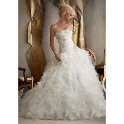 luxusní bílé svatební šaty nadýchané Libertine L-XL