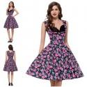 překrásné retro rockabilly květované šaty na ramínka Milley S-M