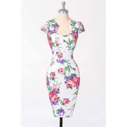 sexy uplé krátké společenské šaty květované Flower S
