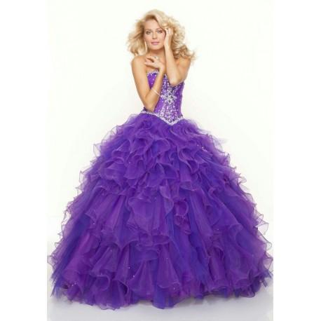 32ece7b2d5da luxusní fialové plesové šaty na maturitní ples nadýchané Veronica ...