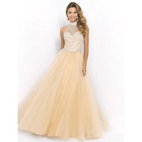 meruňkové plesové šaty na maturitní ples Lindsay XS