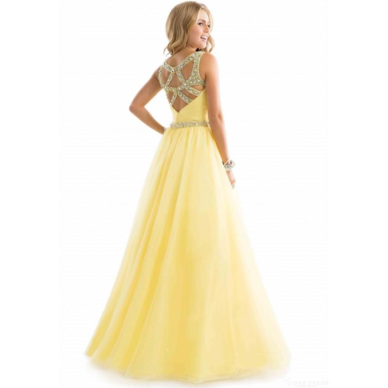 13a74c26034 luxusní žluté plesové společenské šaty na maturitní ples Laura M ...