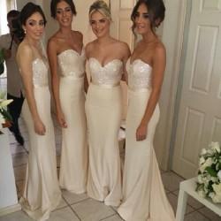 svatební nebo plesové champagne šaty Luisiana M-L
