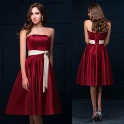 krátké vínové společenské šaty Vilma S-M