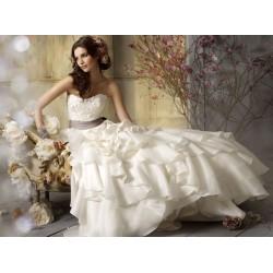 luxusní krémové svatební šaty Evita XXL-3XL