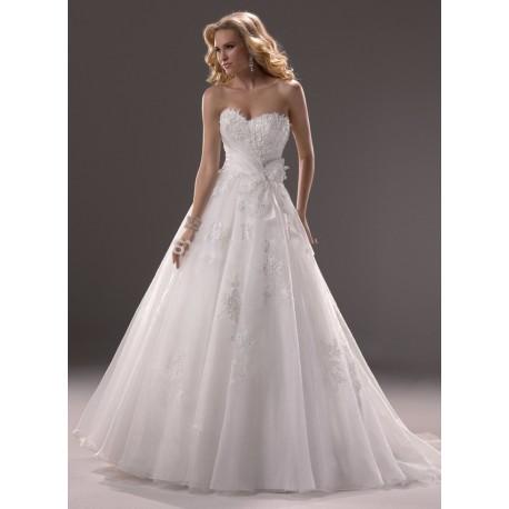 luxusní bílé svatební šaty Tamara S-M