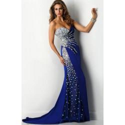 luxusní tmavě modré plesové šaty Adra M