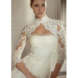 luxusní krajkované svatební bolerko S