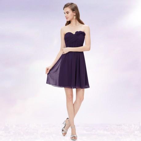 19049edcd465 tmavě fialové krátké společenské šaty Dita XS - Hollywood Style E ...