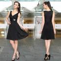krátké černé společenské šaty Suzie XS, S