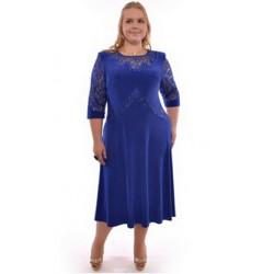 tmavě modré dlouhé společenské šaty pro baculky 3XL
