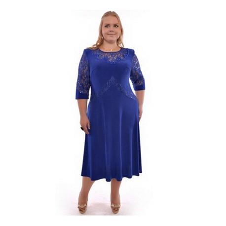 bfb18b5c35b tmavě modré dlouhé společenské šaty pro baculky 3XL - Hollywood ...