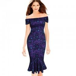 pouzdrové společenské šaty fialové Bardot M
