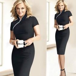 krátké černé pouzdrové ¨společenské šaty XL
