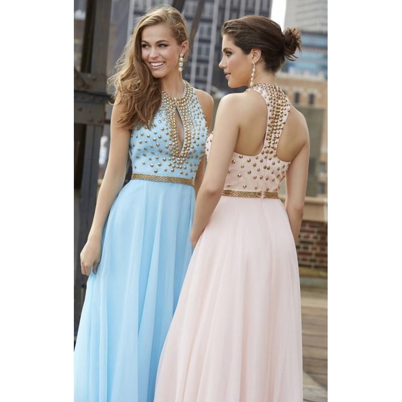 24f08f0f5c46 světle modré plesové antické šaty na maturitní ples Loretta M ...