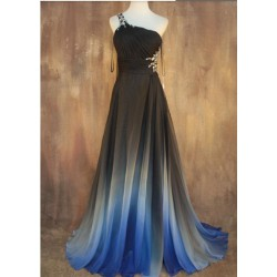 ombré plesové šaty na maturitní ples s holými zády Florence XS
