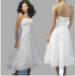 retro krátké bílé svatební šaty Ilona XXL-3XL