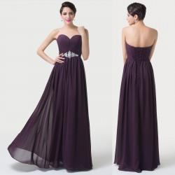 tmavě fialové společenské plesové šaty Denisa 3XL-4XL