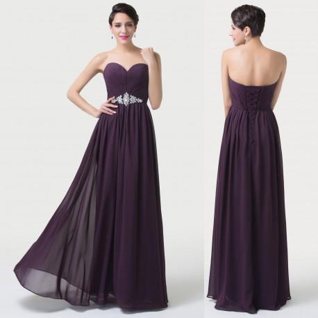 539cbc9bb4da tmavě fialové společenské plesové šaty Denisa 3XL-4XL - Hollywood ...
