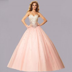 duhové lososové růžové plesové šaty na maturitní ples Victoria XS-S