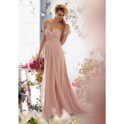 antické plesové šaty pudrové Caroline XS-S