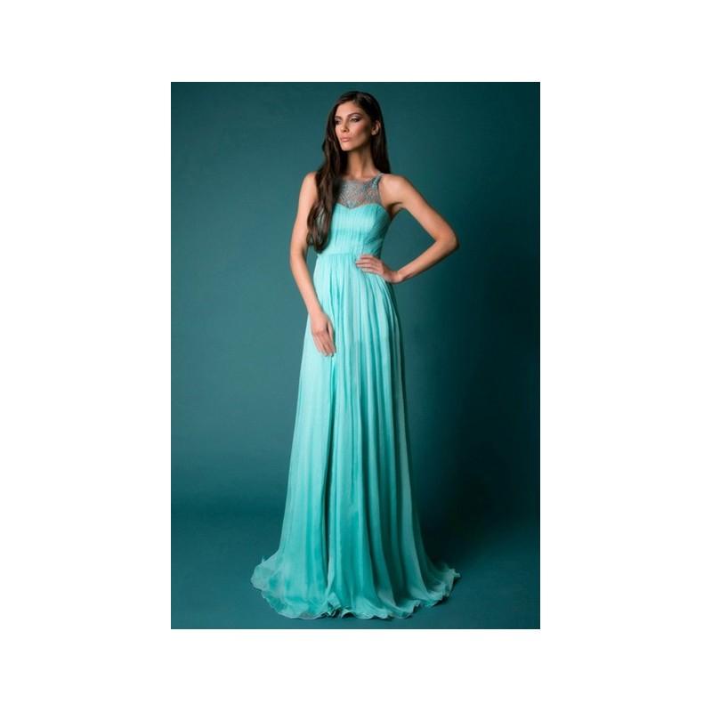 tyrkysové zelené dlouhé společenské letní šaty Triss M - Hollywood ... a654abb467