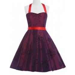 vínové červené krátké společenské šaty Irena M