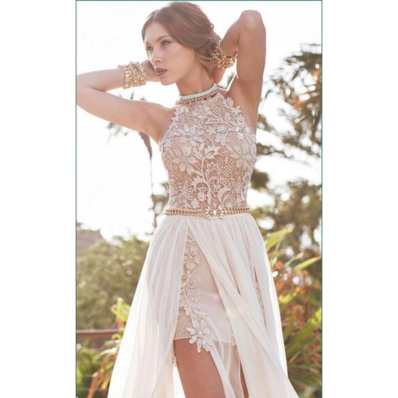 ... krémové plesové nebo svatební šaty s holými zády Tina XS-S ... ae54471d36