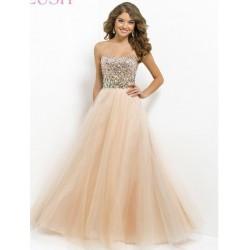 champagne plesové šaty na maturitní ples Luisa XS-S