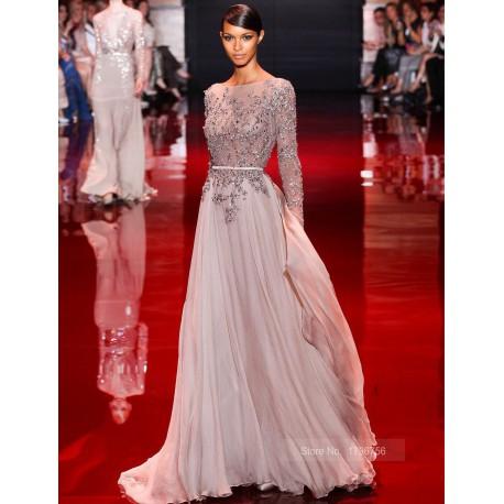 luxusní plesové stříbrné šedé společenské šaty na ples Alaina S