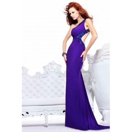 luxusní fialové plesové sexy šaty na maturitní ples Roxy S