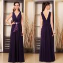 luxusní dlouhé fialové společenské šaty Suzan S