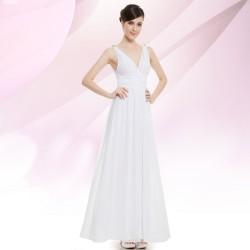 bílé dlouhé společenské nebo svatební šaty Lejla XS