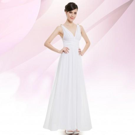 d5f61c8d37cd Jednoduché bílé svatební nebo společenské šaty - antický styl