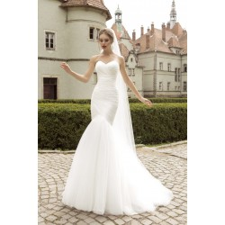 úzké bílé svatební šaty Bianca XS-S