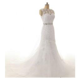 luxusní svatební šaty krémové Chiara XS