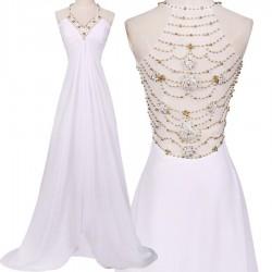 svatební a nebo plesové šaty se zdobenými zády Fabricia XS