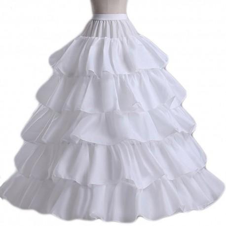 4kruhová spodnice pod svatební nebo plesové šaty s kanýry - extra objem