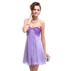 krátké fialové společenské šaty Violeta S