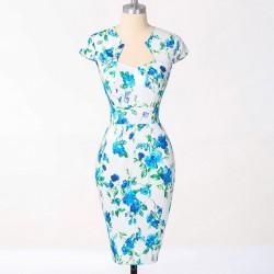 sexy uplé krátké společenské šaty květované Flower M