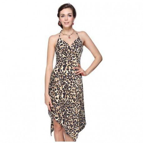 luxusní polodlouhé společenské nebo letní šaty Animal S