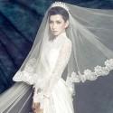 svatební závoj - tyl a krajka
